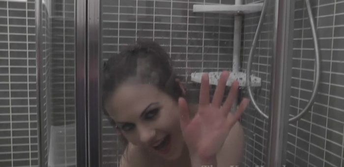 Tina Kay in the shower